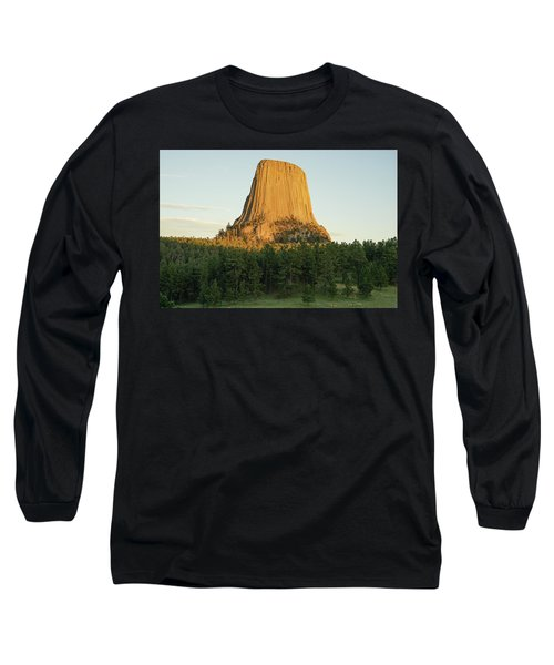 Long Sleeve T-Shirt featuring the photograph Devils Tower At Sunset by Bill Gabbert