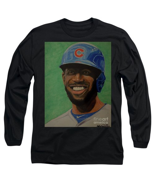 Dexter Fowler Portrait Long Sleeve T-Shirt by Melissa Goodrich