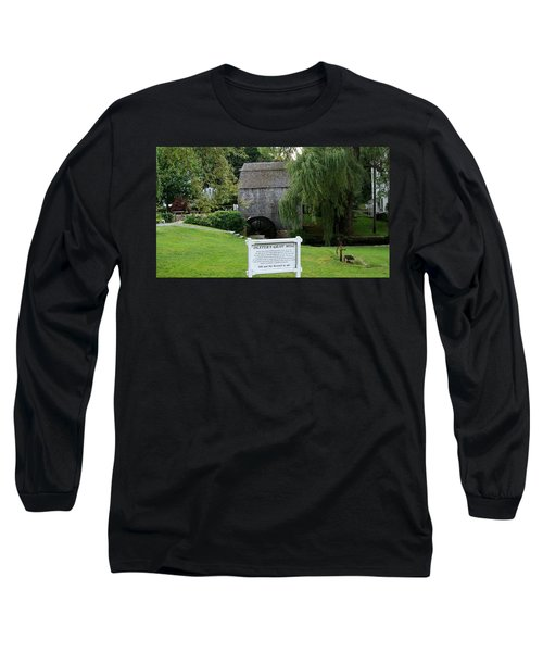 Long Sleeve T-Shirt featuring the painting Dexter's Grist Mill by Rod Jellison