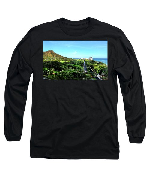 Long Sleeve T-Shirt featuring the photograph Diamond Head by Kristine Merc