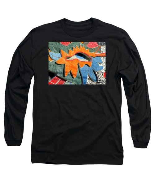 Diego Rivera Mural 9 Long Sleeve T-Shirt by Randall Weidner