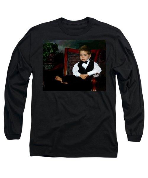Digital Art Painting Of My Son Long Sleeve T-Shirt