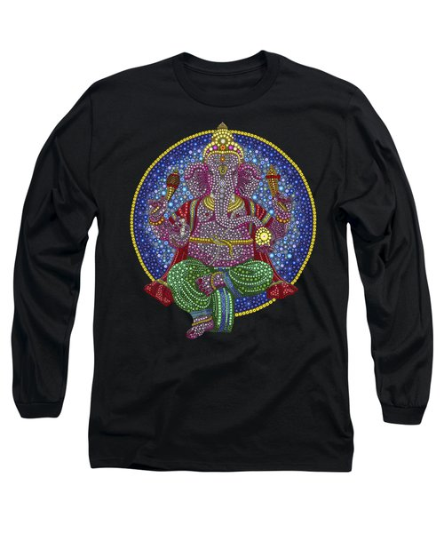 Digital Ganesha Long Sleeve T-Shirt by Tim Gainey