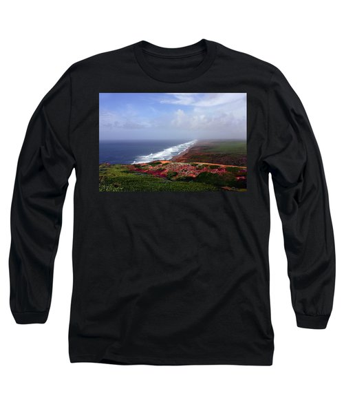 Flowering Beach Point Reyes Lighthouse Bodega Bay Long Sleeve T-Shirt