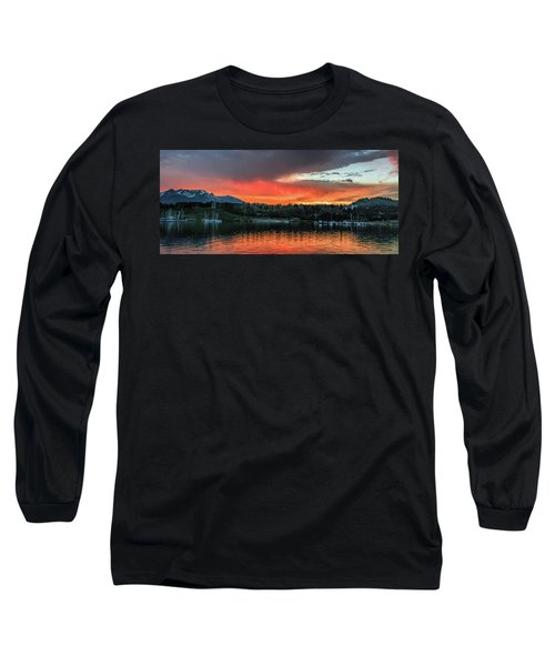 Dillon Marina At Sunset Long Sleeve T-Shirt