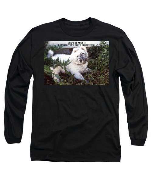 Dirty Dog Birthday Card Long Sleeve T-Shirt