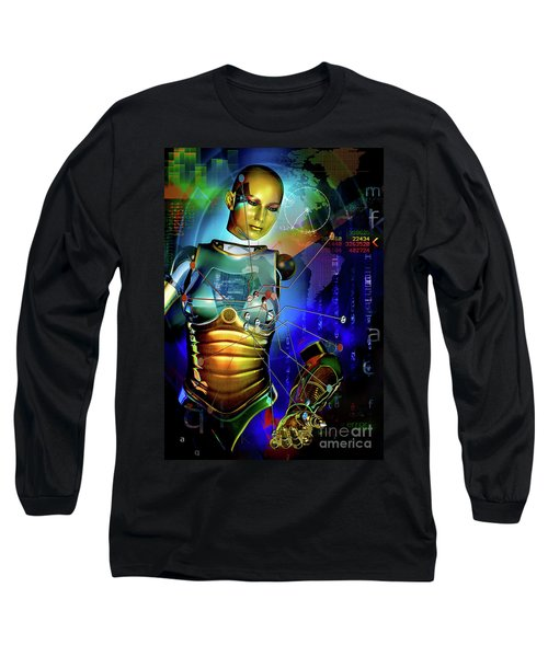 Long Sleeve T-Shirt featuring the digital art Disconnected by Shadowlea Is