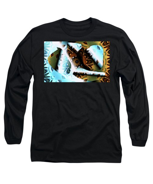 Long Sleeve T-Shirt featuring the digital art Discontinuous Permafrost by Ron Bissett