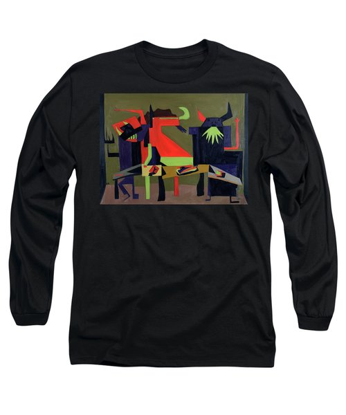 Long Sleeve T-Shirt featuring the painting Disfeastitia by Ryan Demaree