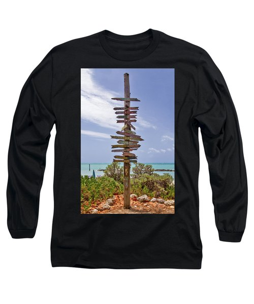 Distance From Key West Long Sleeve T-Shirt