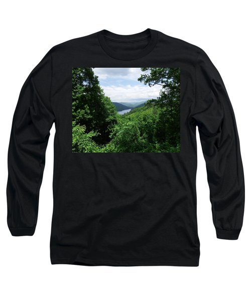 Long Sleeve T-Shirt featuring the photograph Distant Mountains by Cathy Harper