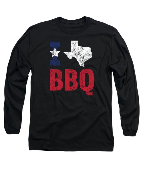 Distressed Love Bbq Texas Barbecue Gift Long Sleeve T-Shirt