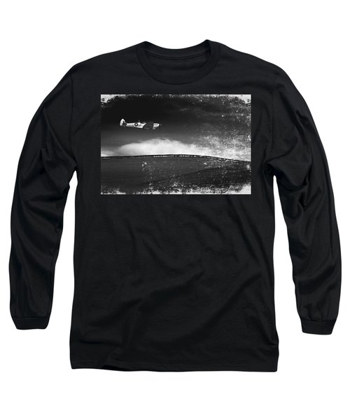 Distressed Spitfire Long Sleeve T-Shirt
