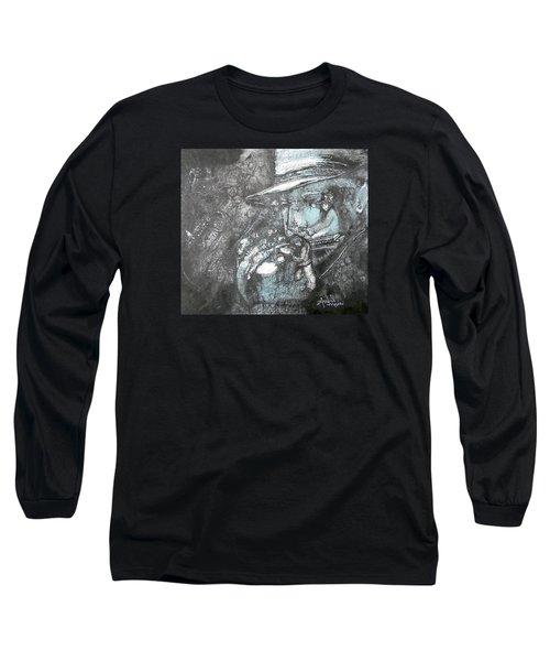Divine Blues Long Sleeve T-Shirt by Anne-D Mejaki - Art About You productions