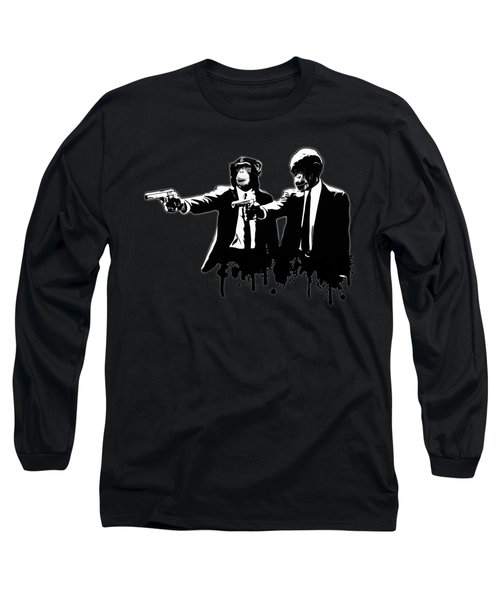 Divine Monkey Intervention - Pulp Fiction Long Sleeve T-Shirt by Nicklas Gustafsson