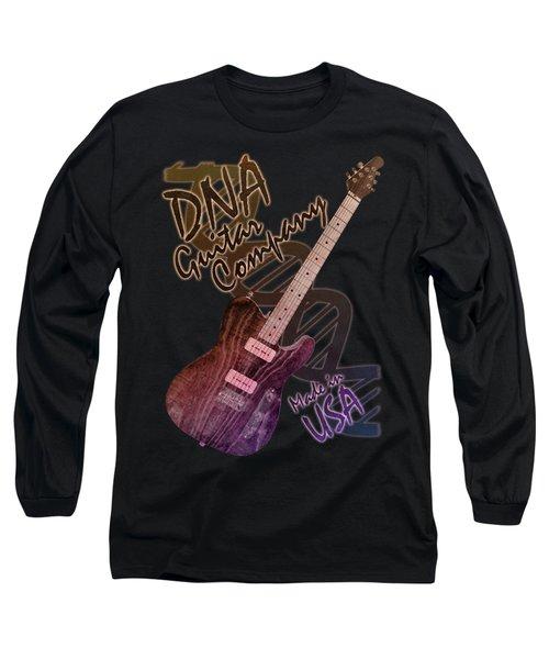 Dna Guitar Company T Shirt 2 Long Sleeve T-Shirt by WB Johnston