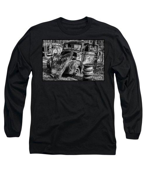 Do Not Open Hood Long Sleeve T-Shirt