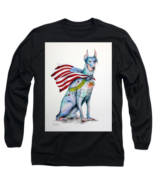 Doberman Napolean Long Sleeve T-Shirt by Patricia Lintner