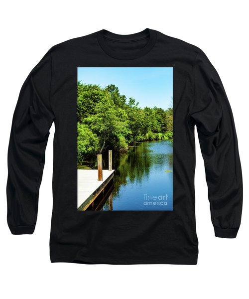 Dockside In Delaware Long Sleeve T-Shirt