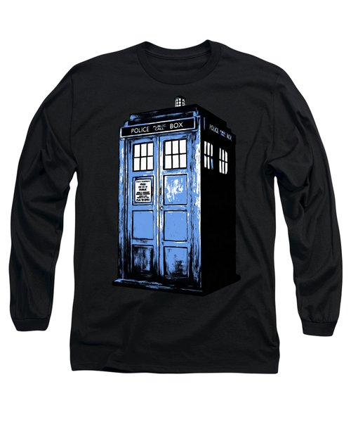 Doctor Who Tardis Long Sleeve T-Shirt by Edward Fielding