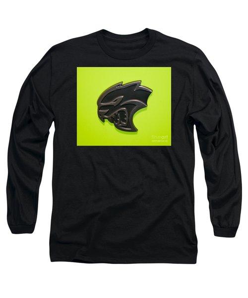 Dodge Challenger Srt Hellcat Emblem Long Sleeve T-Shirt