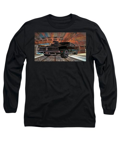 Long Sleeve T-Shirt featuring the photograph Dodge Charger R/t 1969 Hemi by Louis Ferreira
