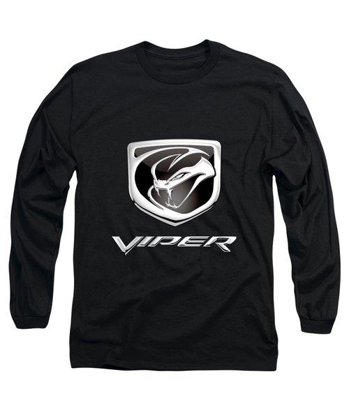 Dodge Viper Badge - Luxury Edition On Black Long Sleeve T-Shirt