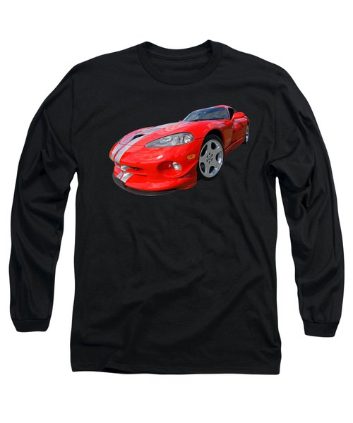 Dodge Viper Gts Long Sleeve T-Shirt by Gill Billington