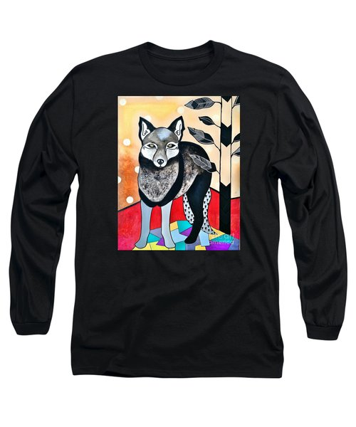 Dog Long Sleeve T-Shirt by Amy Sorrell