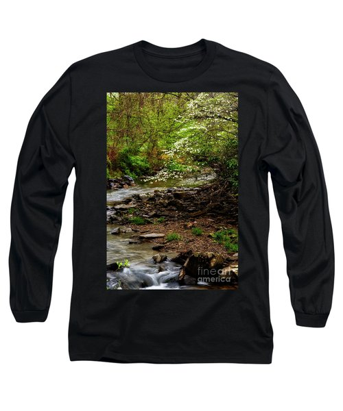 Dogwood At The Bend Long Sleeve T-Shirt by Thomas R Fletcher
