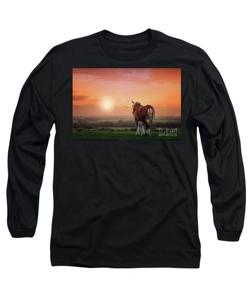 Don't Let The Sun Go Down On Me Long Sleeve T-Shirt by Tamyra Ayles
