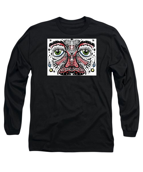 Doodle Face Long Sleeve T-Shirt by Darren Cannell