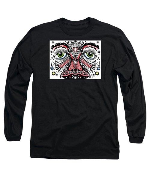 Doodle Face Long Sleeve T-Shirt