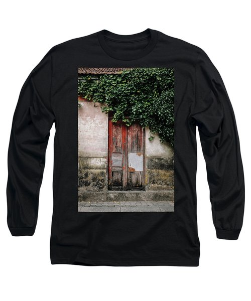 Long Sleeve T-Shirt featuring the photograph Door Covered With Ivy by Marco Oliveira
