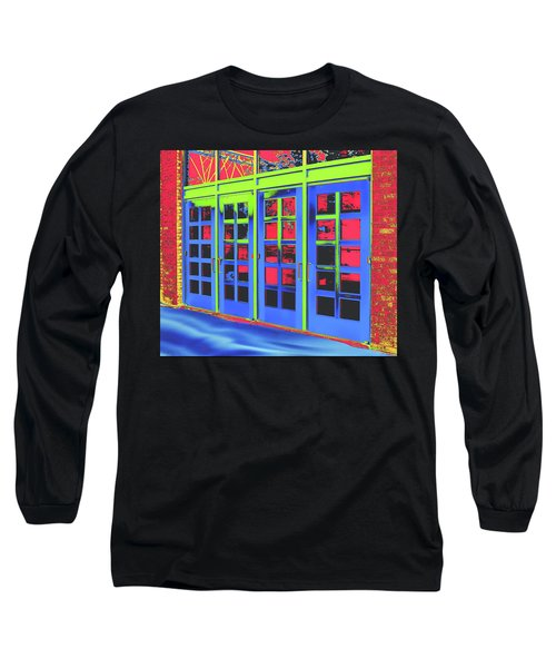 Long Sleeve T-Shirt featuring the digital art Doorplay by Wendy J St Christopher