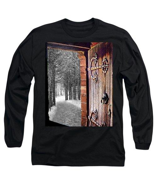 Doorway To Hadrian's Wood Long Sleeve T-Shirt