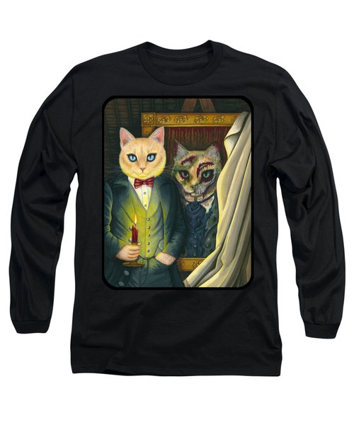 Long Sleeve T-Shirt featuring the painting Dorian Gray by Carrie Hawks