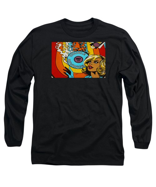 Double Advance - Pinball Long Sleeve T-Shirt by Colleen Kammerer