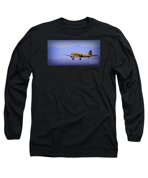 Douglas C-47 Invasion Blues Long Sleeve T-Shirt