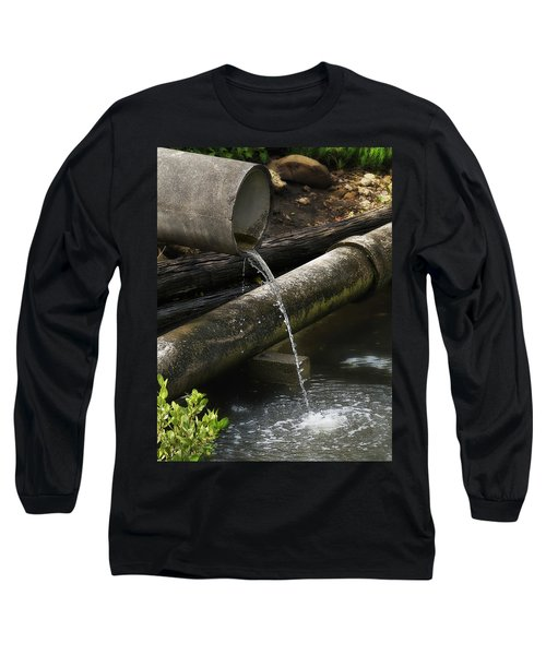 Long Sleeve T-Shirt featuring the photograph Down The Pipe Line 01 by Kevin Chippindall