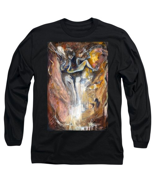 Down The Rabbit Hole Long Sleeve T-Shirt by Nadine Dennis