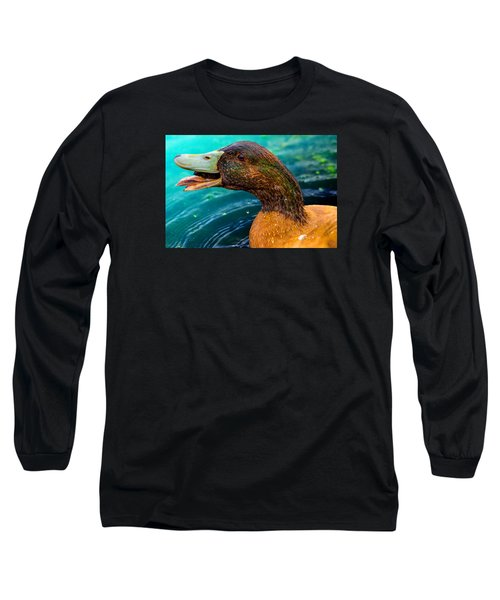 Down You Go Escargot Long Sleeve T-Shirt by Brian Stevens