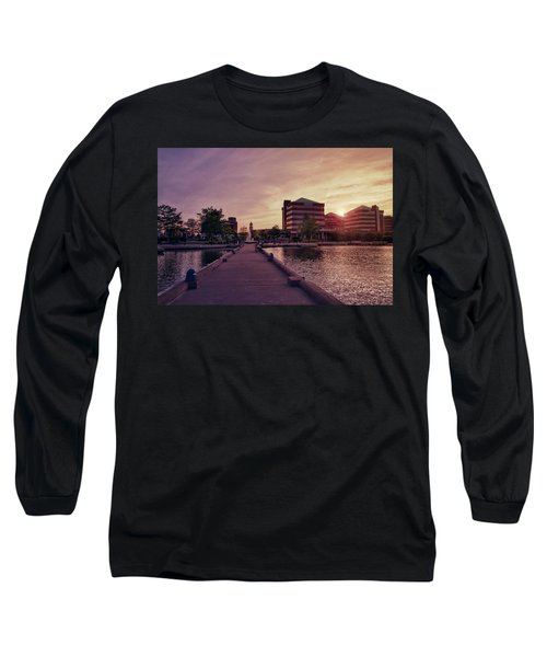 Downtown Neenah Sunset Long Sleeve T-Shirt