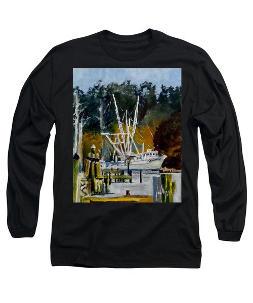 Long Sleeve T-Shirt featuring the painting Downtown Parking by Jim Phillips
