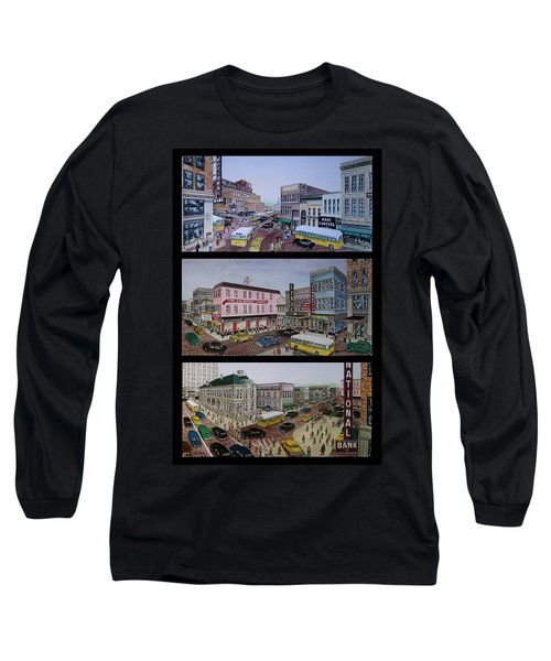 Downtown Portsmouth 1948 Long Sleeve T-Shirt by Frank Hunter