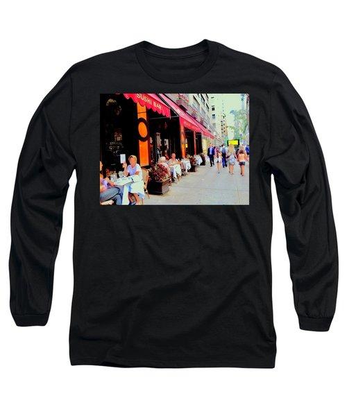 Downtown Sidewalk Long Sleeve T-Shirt