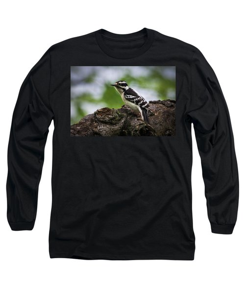 Downy Woodpecker Long Sleeve T-Shirt