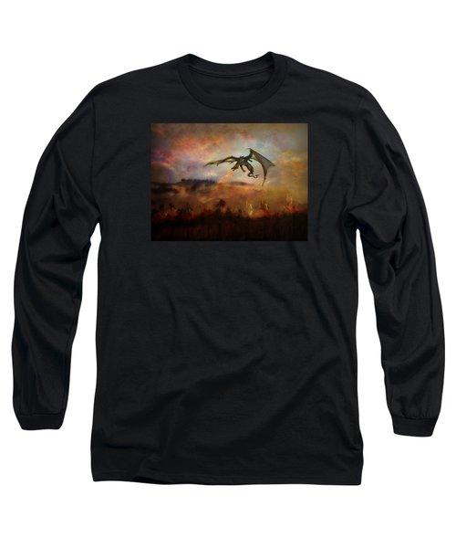 Dracarys Long Sleeve T-Shirt by Lilia D