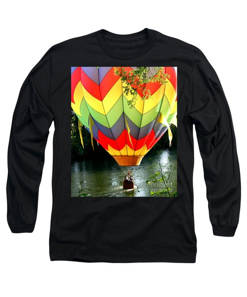 Dragging The Water   Line Long Sleeve T-Shirt by Marie Neder