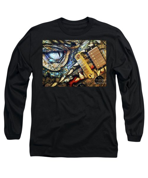 Long Sleeve T-Shirt featuring the photograph Dragon Guitar Prs by Martin Konopacki